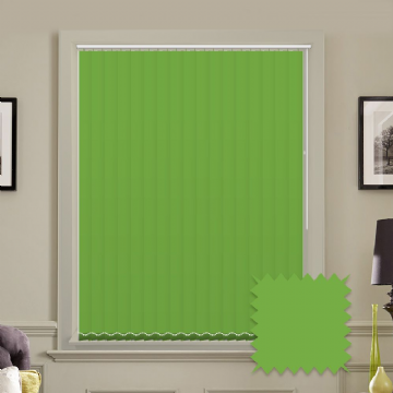 Unicolour Kiwi Green 5 inch Vertical Blinds - made to measure
